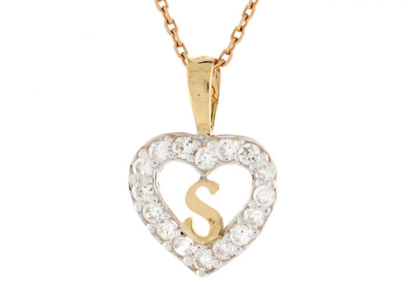 Product Description Gold Heart Shape Letter