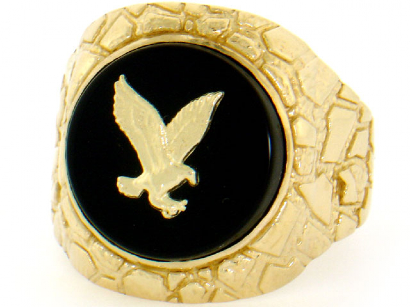 Mens K Gold Onyx Rings