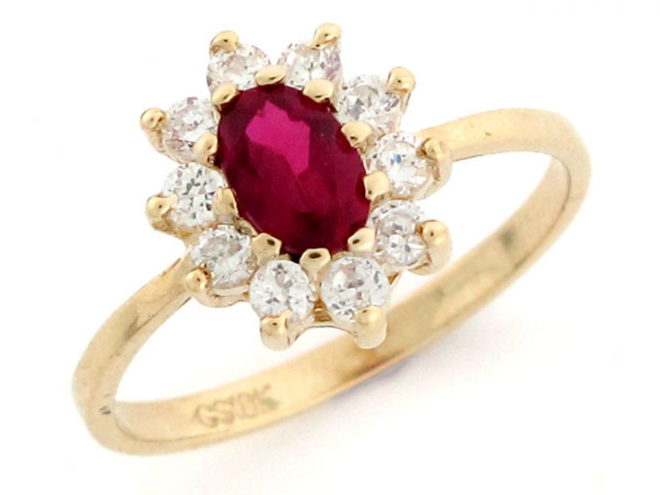 10k 14k gold simulated garnet january cz birthstone ring. Black Bedroom Furniture Sets. Home Design Ideas